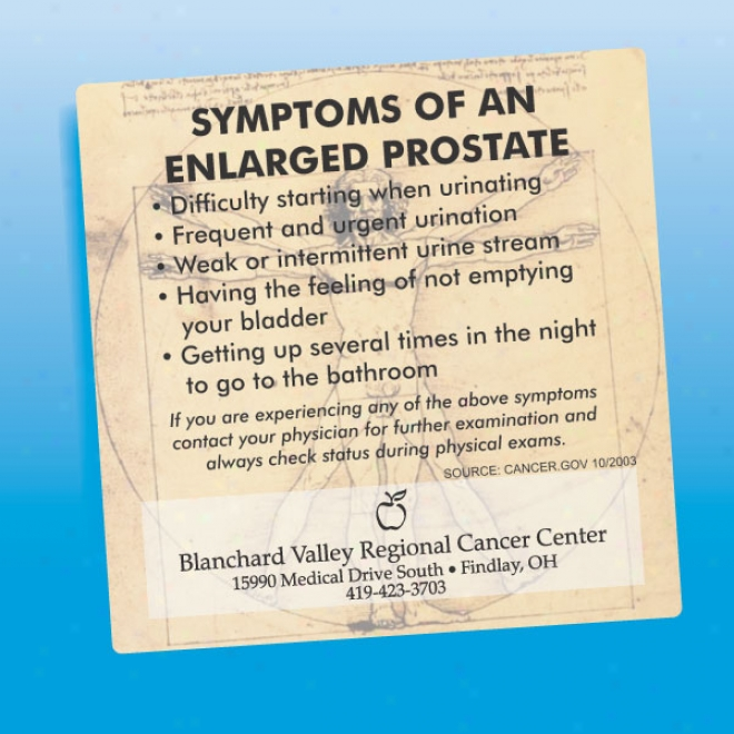 Enlarged Prostate - Health And Safety Magnet