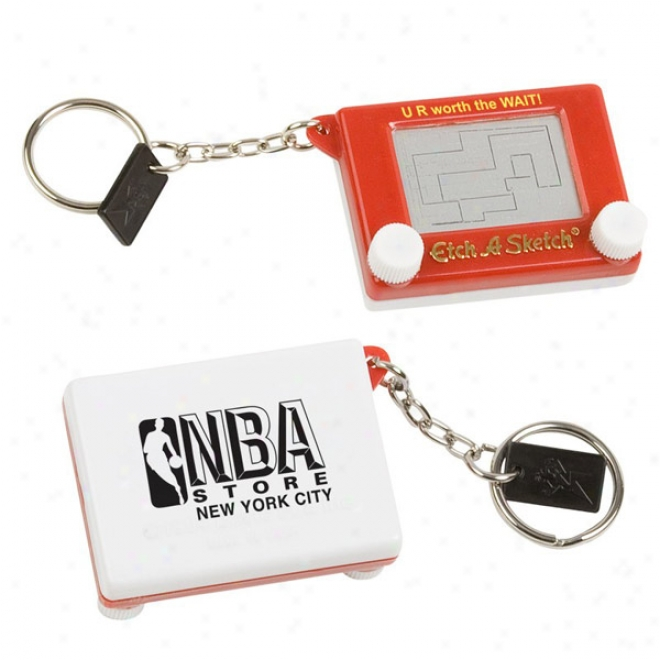 Etch-a-sketch  Key Chain