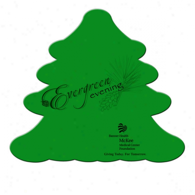 Evergreen - Stock Shape Poster Board Hand Fan With A High Gloss Finish