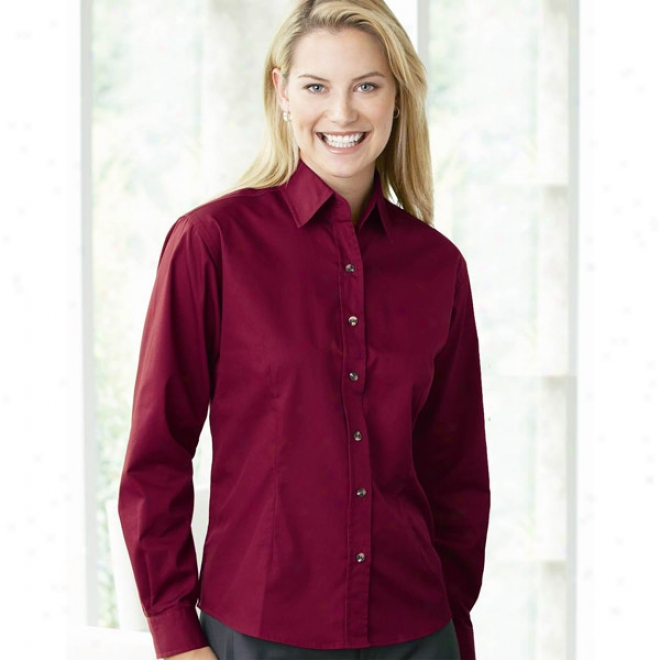 Featherlite Ladies' Long Sleeve Tapered Twill Shirt