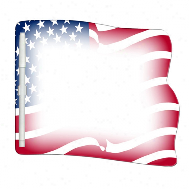 Flag - Stock Shape, Dry Erase Write On-wipe Off Laminated Memo Board With Marker
