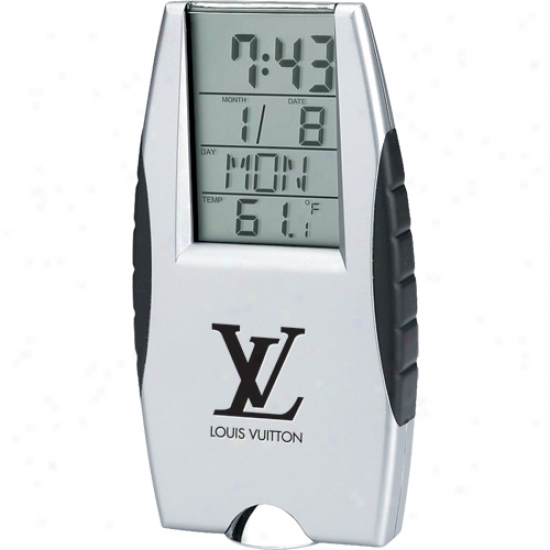 Flashlight lAarm Clock With Digital Calendar And Thermometer, Battery Included