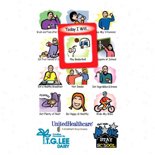 "Frame-of-mind Gator Mag - Youth Health - Frame Magnet, 3 5/8"" X 6"", Frame Is 1.6"" X 1.8"", Approximately .25 Mil. Thickness"