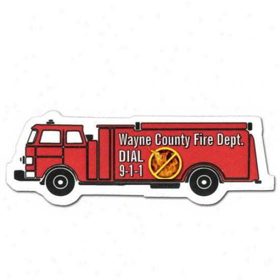 Full Color Digital Stock Shaped Magnets - Burning fuel Truck