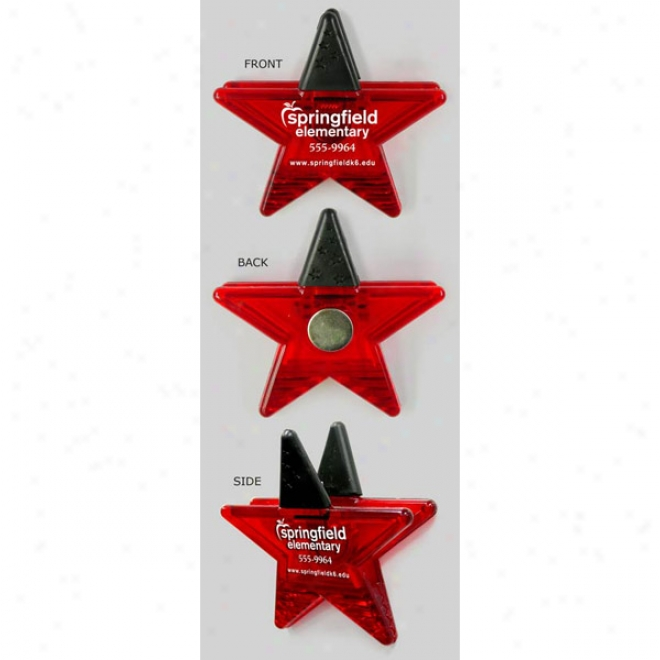 Gator Mag - Star (red) - High Intensity Magnet Clip In A Fun Shape