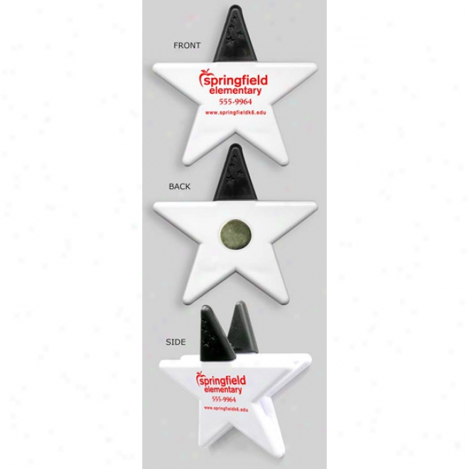 Gator Mag - Star (white) - High Intensity Magnet Clip In A Fuh Form