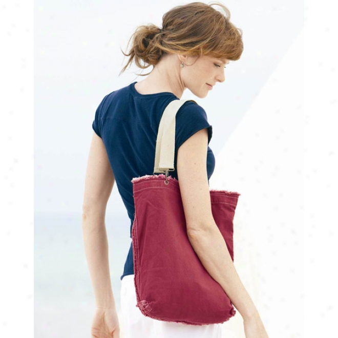 Genuine Pigment-dyed Ragged Edge Tote