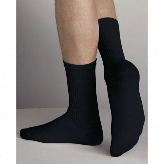Gildn - Men'a Full Black Crew Socks