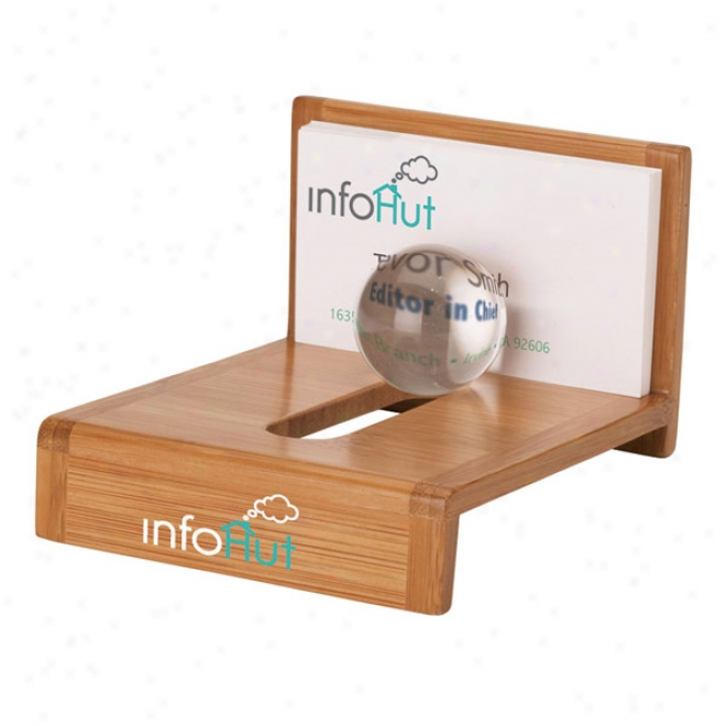 Globe bamboo business card holder gifts online catalog for Bamboo business card holder