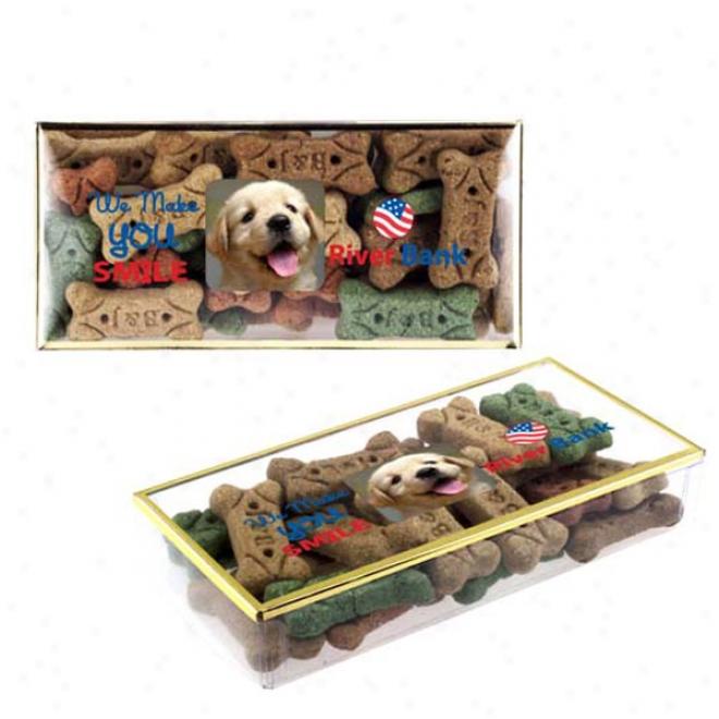Golden Rim Box With Dog Bones