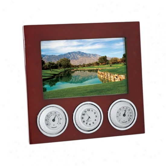 Golf Photo Frame With Weather Station