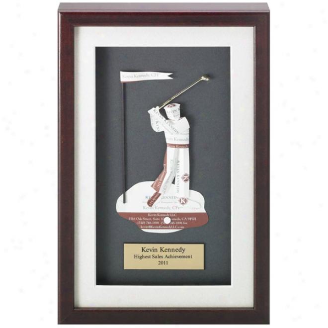 Golfer Business Card Award - Blank