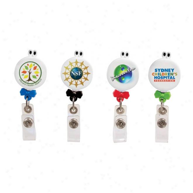 Googly-eyed Bow-tie Badge Holder, Full Color Digital