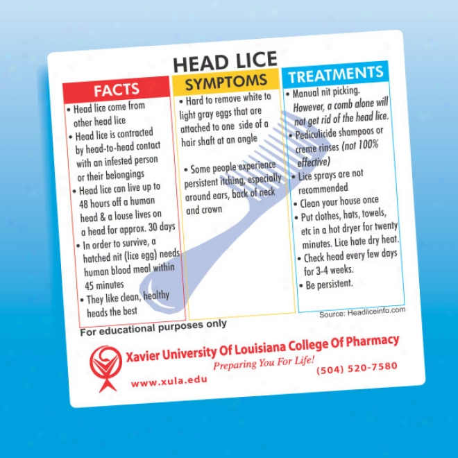 Head Lice Health And Safety Magnet Gifts Online