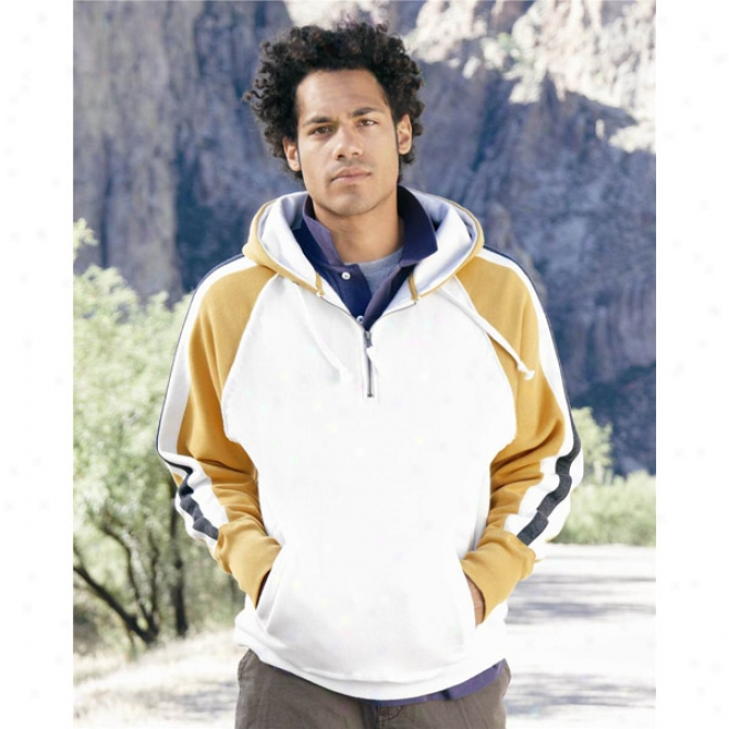 J. America - Vintage  1/4  Zip Hooded Swwatshirt
