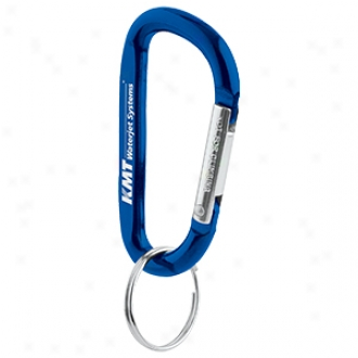 Key Tag, 6 Mm Aluminum Carabiner With Removable Split Ring Included