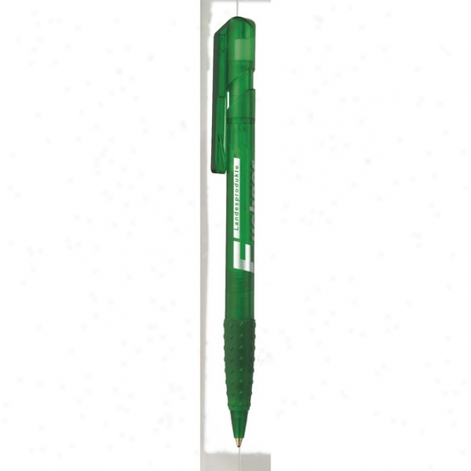 Klio Eterna Euro Grip Ice - Pen With Ice Color Cuwtomizable Parts And Black, Medium Point Ink Cartidge