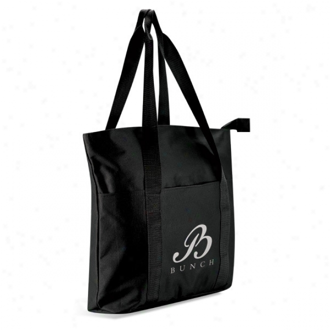 Large Polyester Zippered Tote