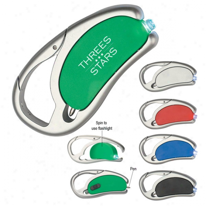 Led Light With Pen And Carabiner