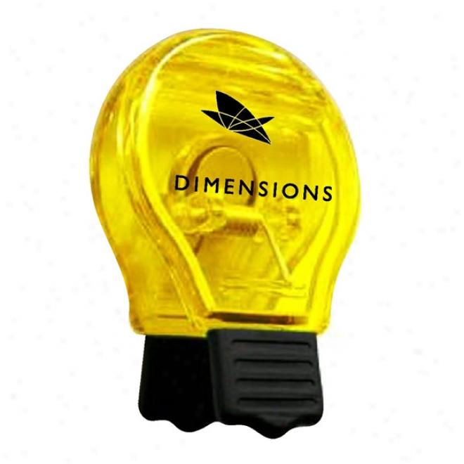 Light Bulb Magnteic Clip - Yellow