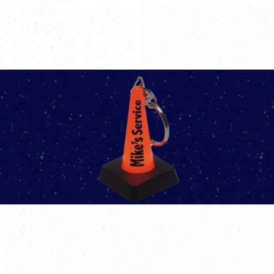 Light-up Safety Cone Keychain