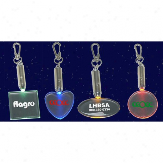 Light-up Shape Keychains(round)