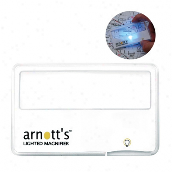 Lighted Card Magnifier