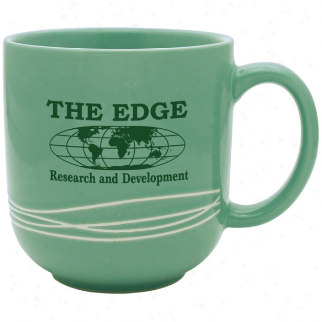 Linear Assemblage - 17 Oz Green Mug