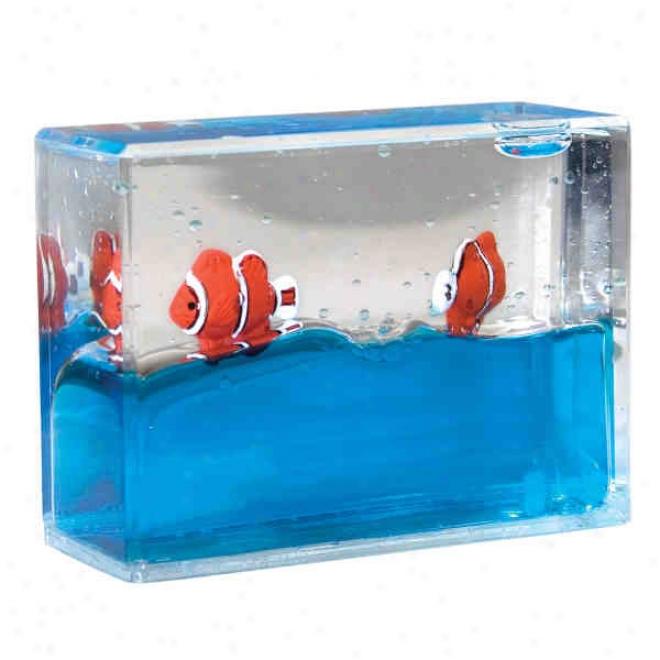 Liuqid Paperweight: Clownfish