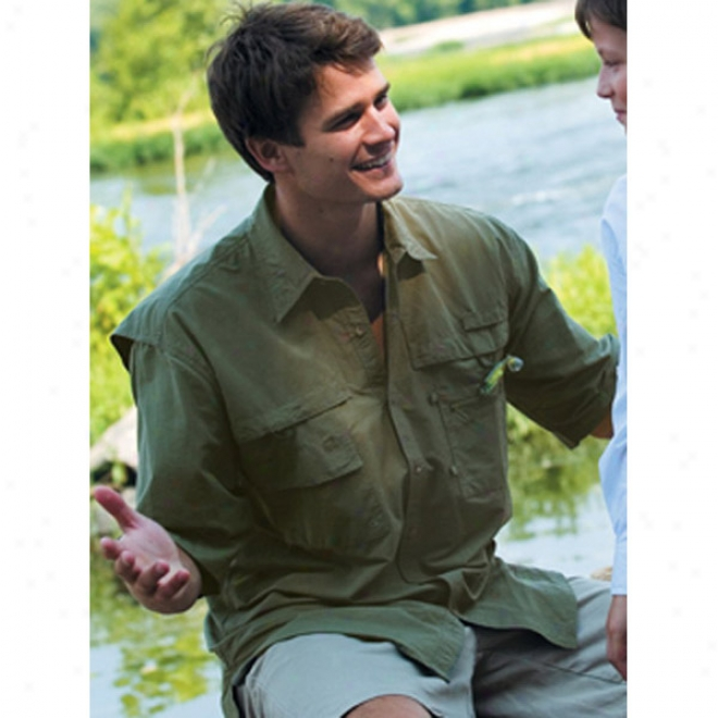 Long Sleeve Fishing Shirt With Convertible Sieeve