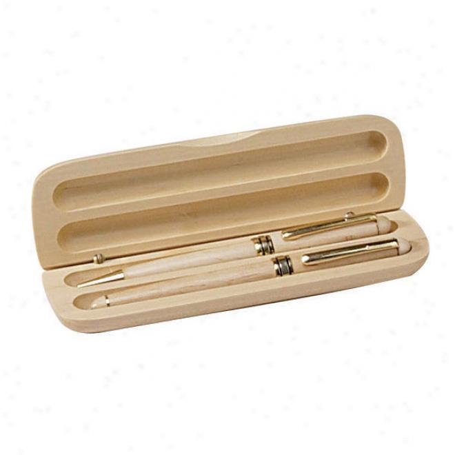 Maple Wood Double Slot Box