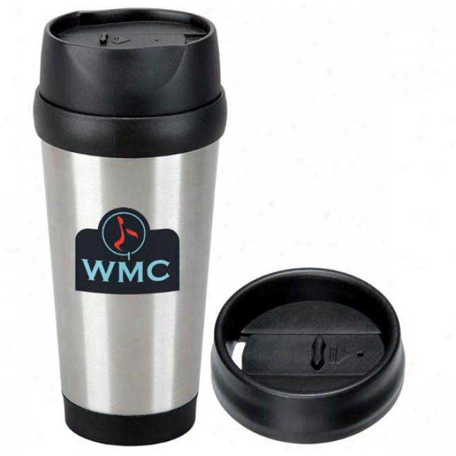 Modern Stainless Steel Tumbler - 15 Oz