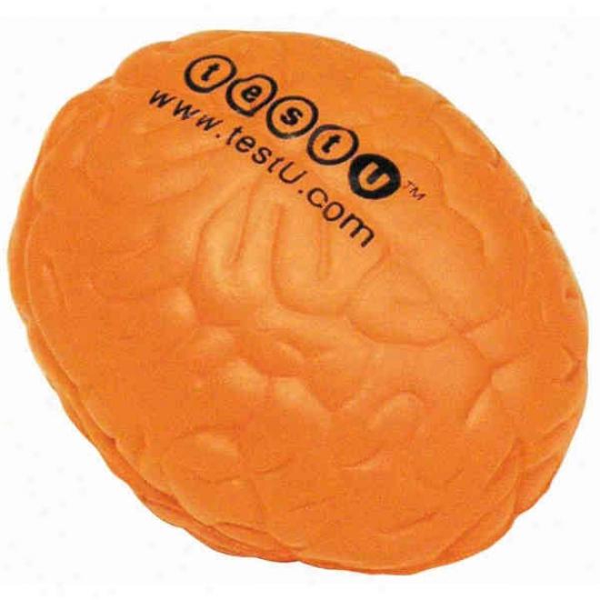 Neon Orange Brain Squeeezie