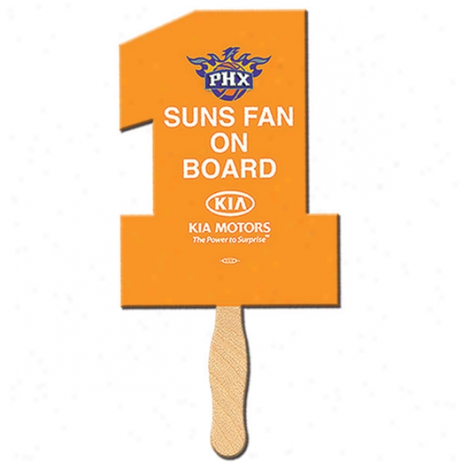 Number One - Special Shape Fan, Material Used Is Heavy 22 Pt. High Densoty Wihte Poster Board