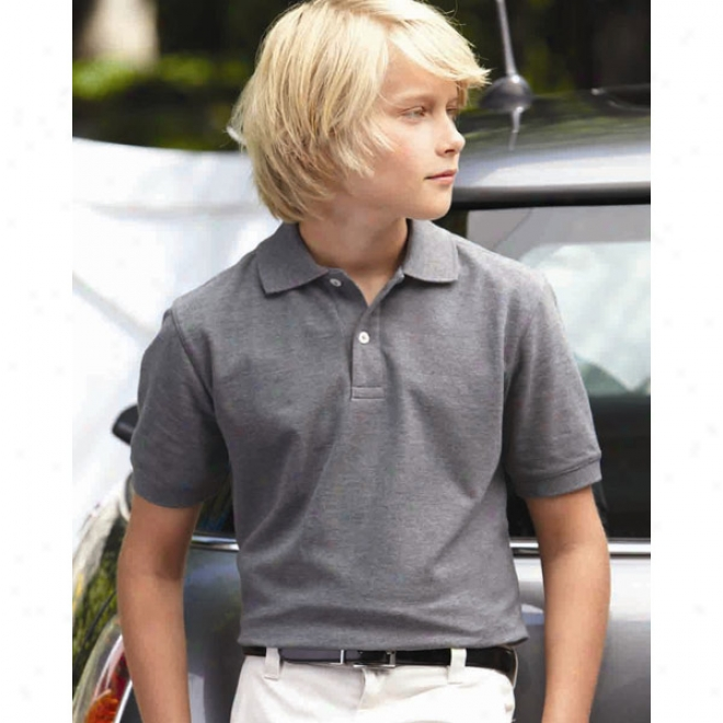 Outer Banks - Youth Essential Blended Pique Sport Shirt