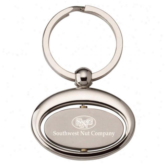 Oval Rotating Key Ring
