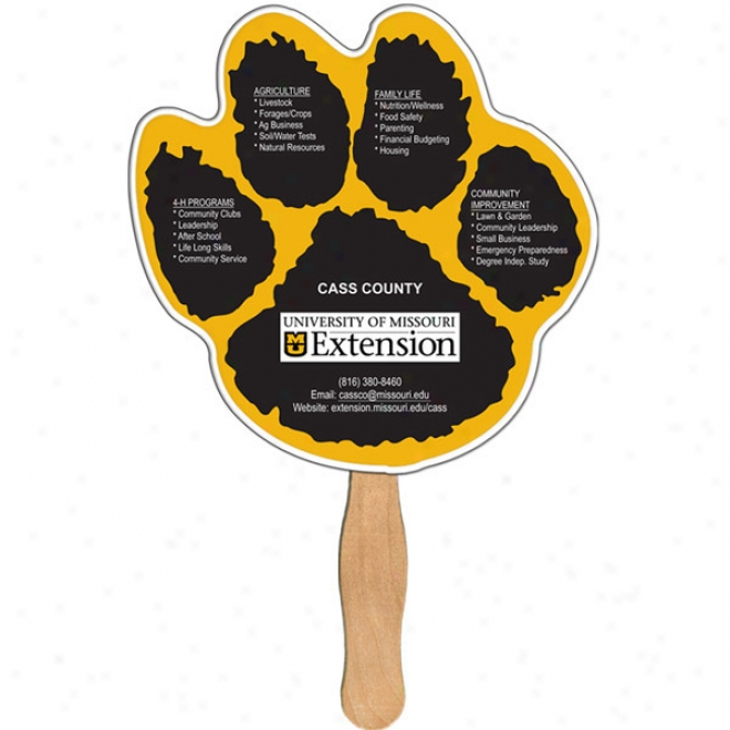 Paw Print - Digital System Fans With Double Sided Film Lamination