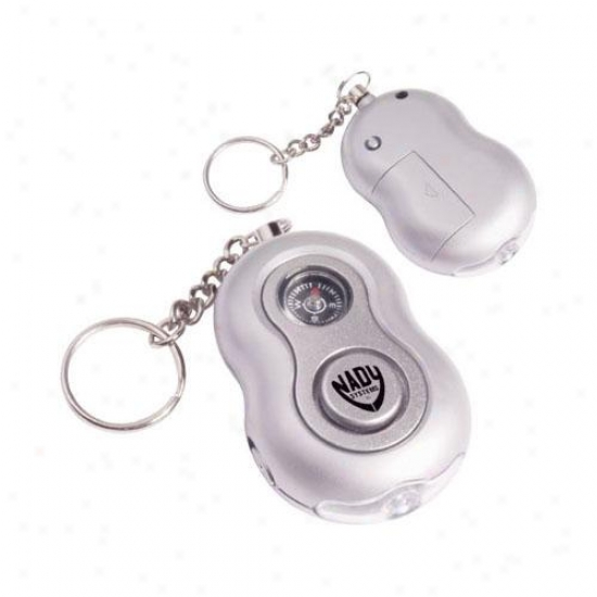Personal Panic Alarm With Compass And Led Light