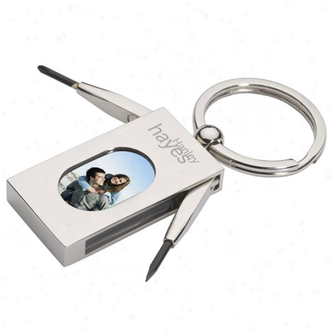 Photo Frame & Mini Screwdriver Keychain