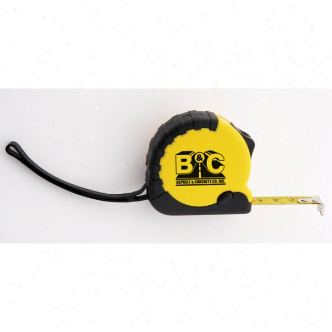 Professional 12 Foot Tape Measure With Side Hold Button And Strap
