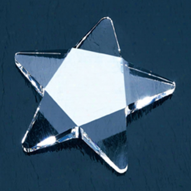 Quasar Optica Couture - Crystal Star Shaped Award Paperweight