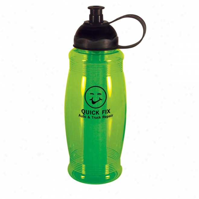 Quencher - Exclusive 32 Oz. Polycarbonate Bottle With Pull-top Sipper
