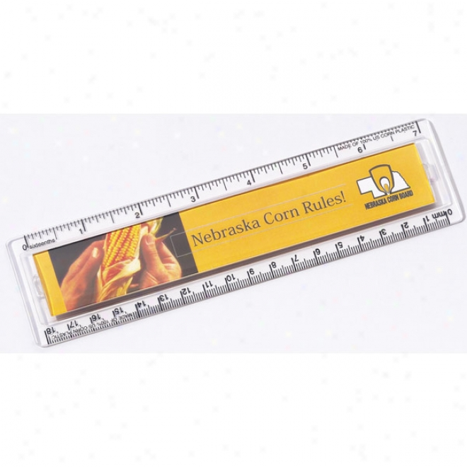 "Quickview - Ruler, 7"", Made Of 100% U.s. Corn Plastic"