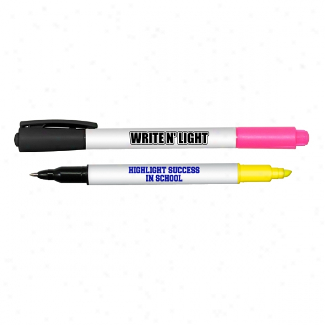 """write N Light"" Double Ended Highlighter Pen Combo"