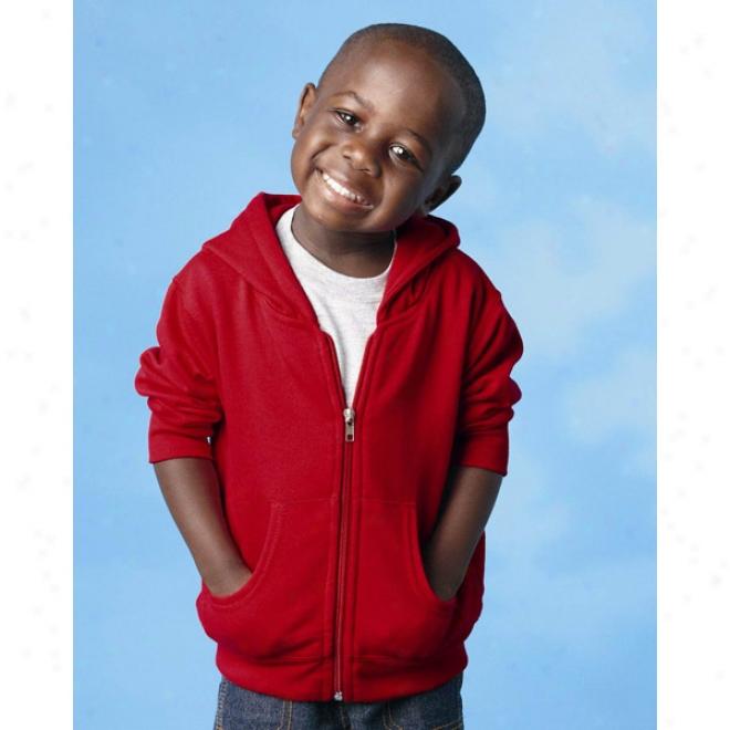 Rabbit Skins Toddler Hkoded Fuull-zip Sweatshirt