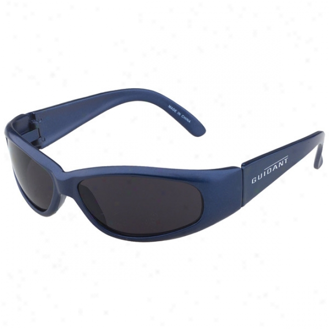 Racer Wrap Blue Silk Sunglass