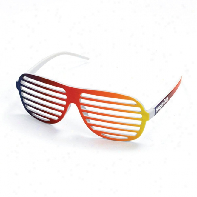Rainbow Slotted Sunglasses
