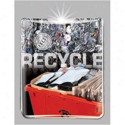 Recycling Bin - Economic Key Ring Light With A Background Design, Led Bulb, And A Lithium Battery
