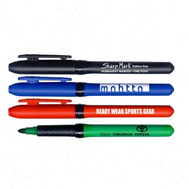 Rubebr Grip Permanent Ink Pocket Markers