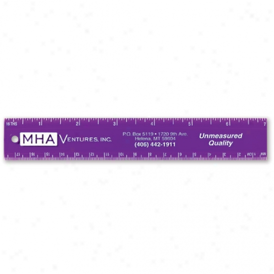 Ruler With Beveled Marking Edge, 7""